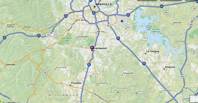 Finding A Brentwood Tennessee Map The Brentwood TN Guide
