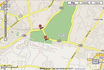 Percy Warner Parks map for directions.