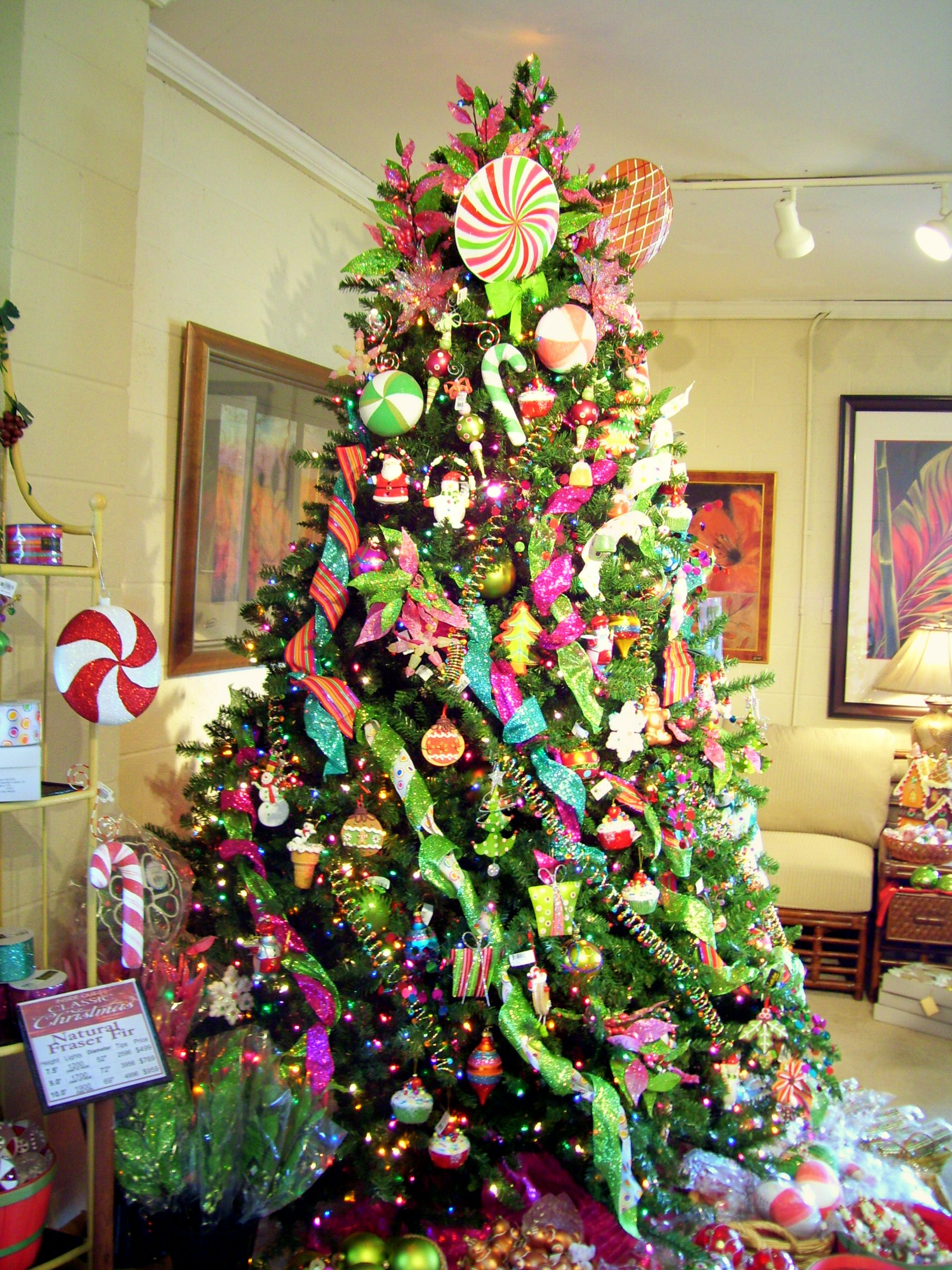 The candy-theme Christmas tree was decorated with all things sugarplum ...